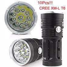 25000LM 1XM-L T6 LED bicycle light Torch 4 x 18650 Hunting Lamp NEW AUGUST4