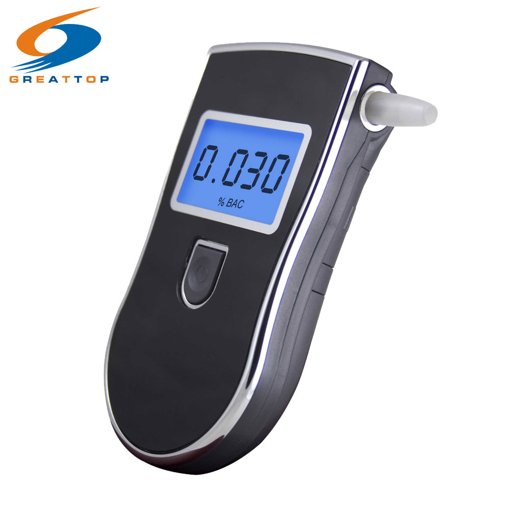 NYHED Hot selling Professional Police Digital Pust Alkohol Tester Breathalyzer Gratis forsendelse Dropshipping