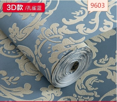 Classic Europe type is aspersed velvet non woven wallpaper wall covering bedroom a sitting room