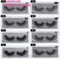 50 Pairs Free DHL Wholesale Mink Eyelashes 3D Mink Lashes Handmade Full Strip Lashes Mink Collection 13 styles False Eyelas