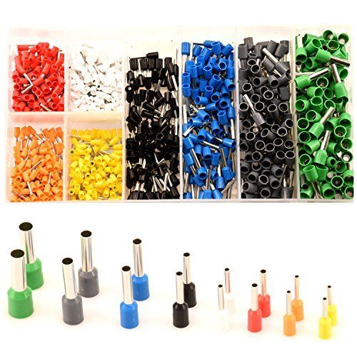 цена на 800pcs Electrical Bootlace Copper Ferrules Terminal Kit Cable Wire Copper Crimp Connector Insulated Cord Pin End Tube Terminals
