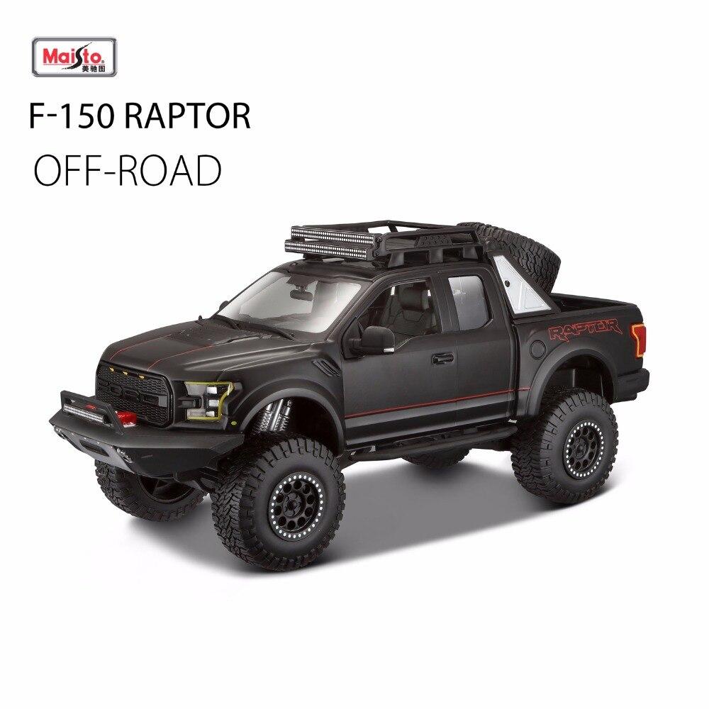 Новинка 2017 года Maisto 1:24 F150 SVT Raptor внедорожных пикап моделирование сплава модели автомобиля