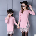 Family matching outfits mother & kids lace dress long sleeve mother daughter dresses fashion mother and daughter clothes AA2101