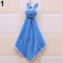 Детское полотенце для рук мультяшное животное кролик плюшевое кухонное мягкое подвесное банное полотенце