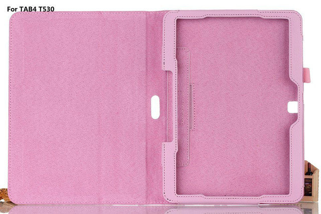 Leather Stand Case Cover Tablet Holster for Samsung Galaxy Tab 4 10.1 SM T530 T531 T535