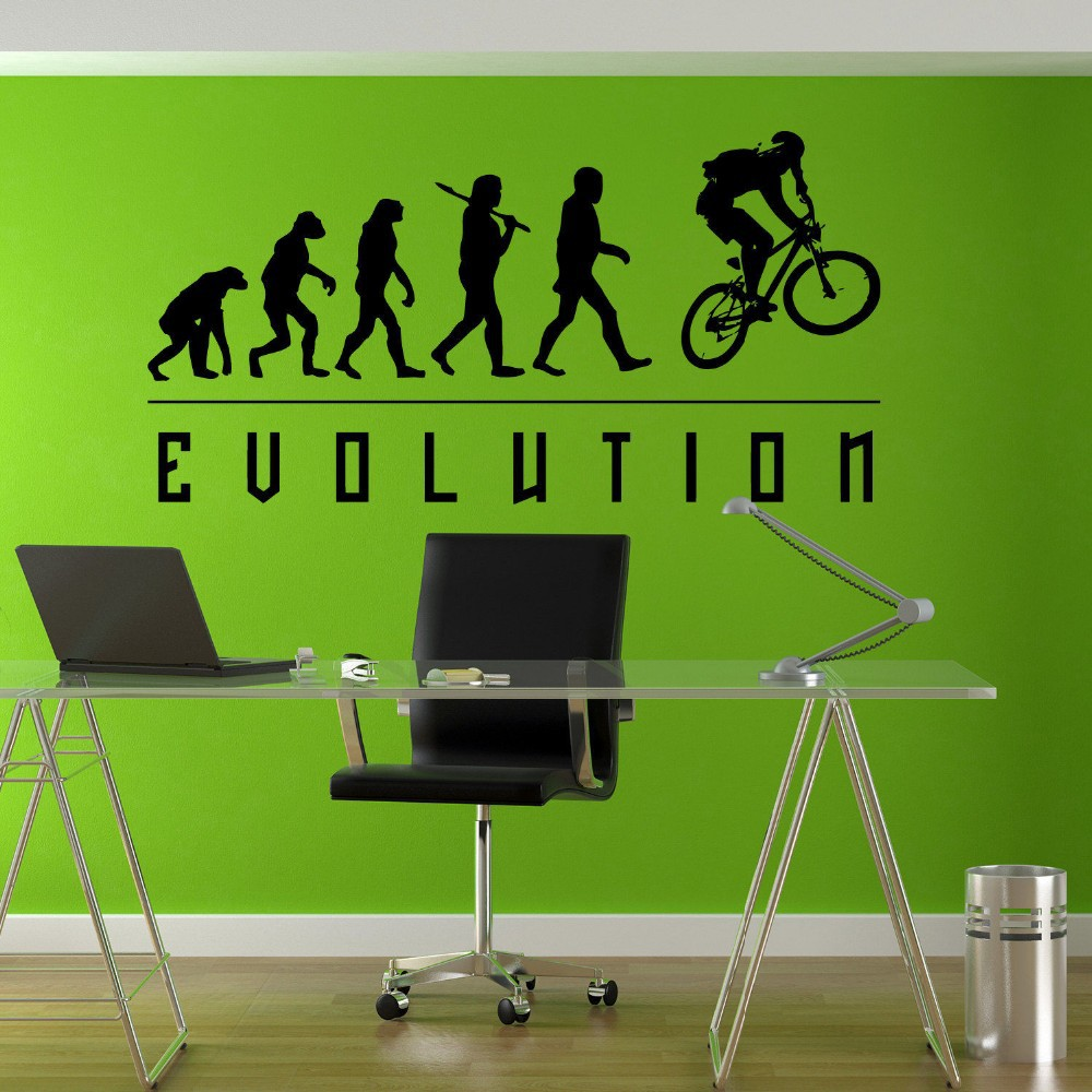 Free Shipping Evolution BMX Biker Bicycle Childrens Wall Mural Vinyl Art Stickers  Decor Decal Diy C Part 45
