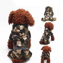 Reflective Dog Raincoats Camoflage Clothes Waterproof Pet Raincoat For Puppy Dogs Supply Jumpsuit Pet Products for Chihuahua