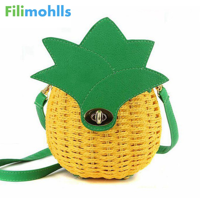 Good Quality Female Tote Lady Clutches Women Messenger Bags Women Bag 2018 Special Pineapple Fashion Design Women Handbag S1066 2017 fashion women handbag famous brands women bag good quality female tote women messenger bags design casual totes bolsa