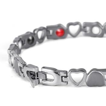 High Quality New Accessories Titanium steel Bio Bracelet Magnetic Keep Health Bangle for Woman Wholesale OSB-082SFIR 2
