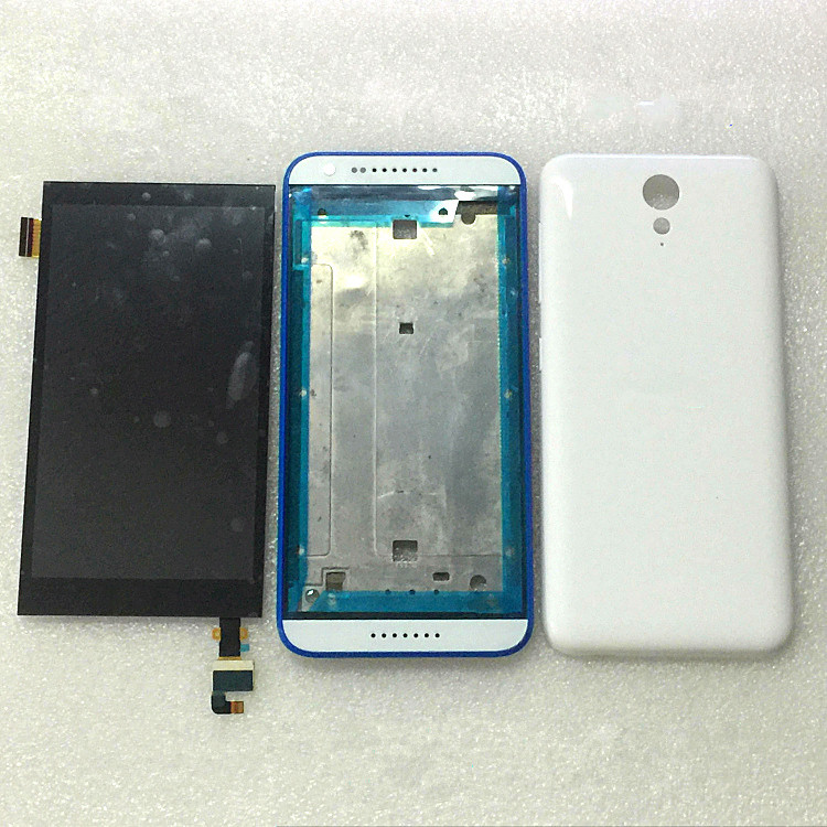 Full LCD display touch digitizer screen For HTC Desire 816 mini D820mt mu Housing battery back cover case with frame Assembly high quality silver for htc one m7 lcd display touch digitizer screen frame back door battery cover case housing