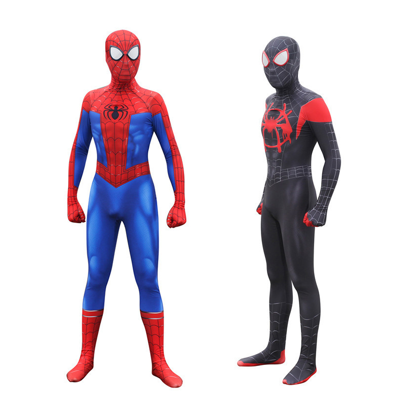 Spider Man Cosplay Costume Red Black Spiderman Suit Zentai Superhero Bodysuit Spider-Man Adults Kids Halloween Cos Clothing