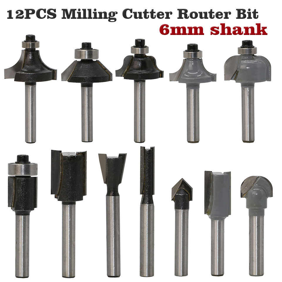 Router Bit Carving Woodworking Trimming Milling Cutters Cutter Tool Router Bit