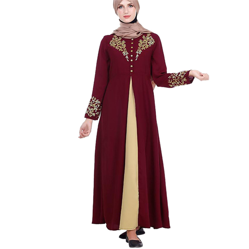 1PC Fashion Muslim Print Dress Women MyBatua Abaya with Hijab Jilbab Islamic Clothing Maxi Muslim Dress Burqa Dropship March22