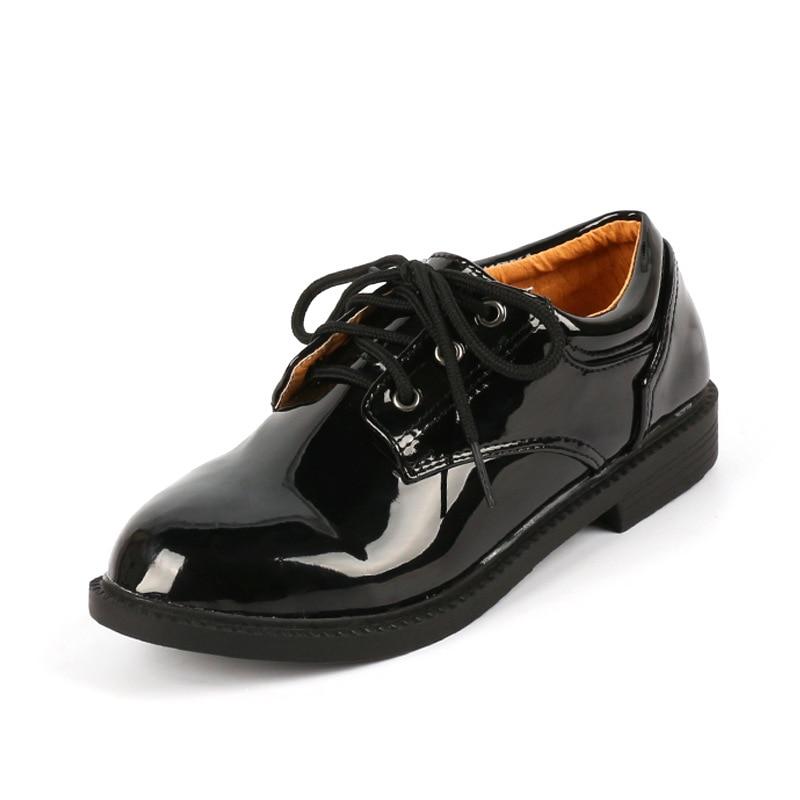 Kids Wedding Dress Shoes For Boys Children Black And White