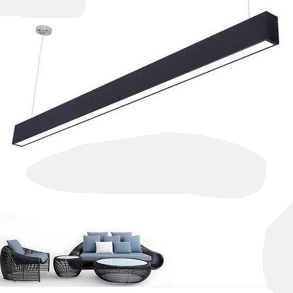 4 см алюминиевые офисные светодиодные полосы люстры Конференц зал исследование офисные здания Коммерческая Освещение светильники светоди