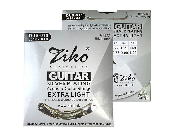 Ziko DUS-010 011 012 High Grade Silver Plated Beginner's Acoustic Guitar Strings Set Extra Light Special 010-048 011-050 012-053 чёрный чай цейлон fbop extra special плантация рухуна 100 г