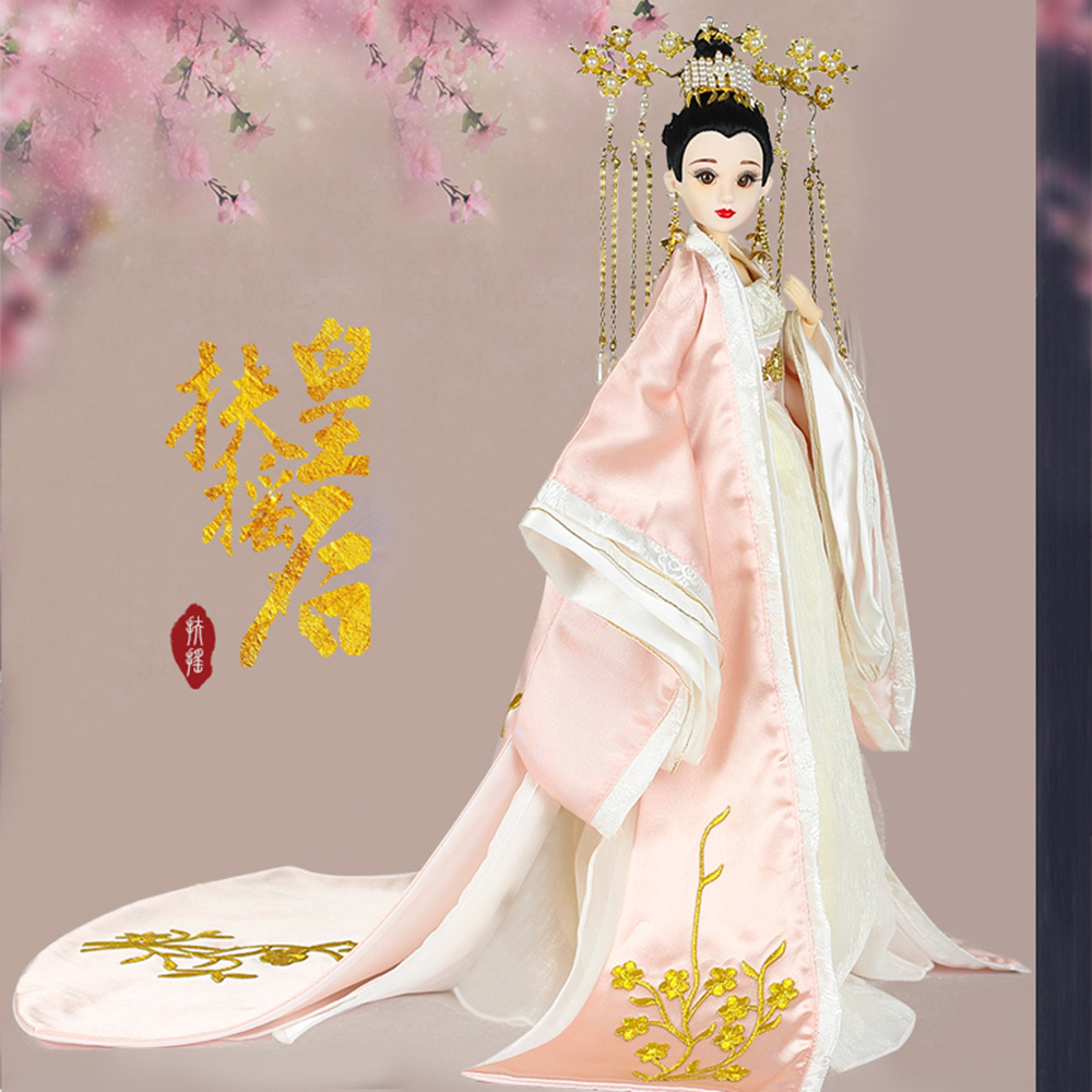 все цены на Fortune Days East Charm ancient costume doll 1/6 like BJD Blyth dolls Fuyao Queen with makeup 14 Joint body High Quality gift онлайн