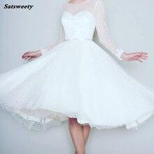 Bridesmaid Dresses 1905's Vintage White Long Sleeve Short