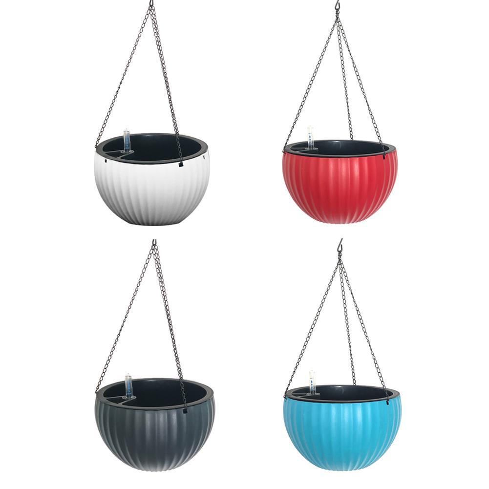 Semi circular Hanging Flower Pot Orchid Flower Basket Floor Flower Planters Home Garden Decoration Pots|Hanging Baskets| |  -