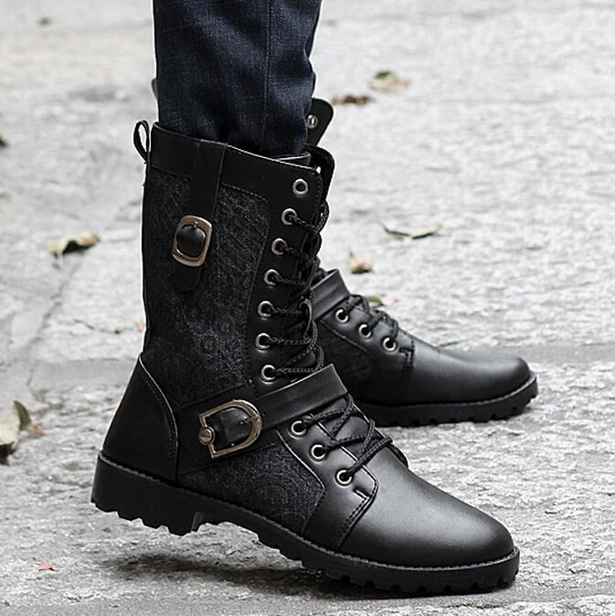 Popular Male Fashion Combat Boots-Buy Cheap Male Fashion Combat
