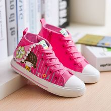 Girls Princess Shoes Autumn Children Canvas Sneakers Floral Kids Denim Casual Flat Child shoes size 25-30 baby students sport