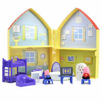 Peppa Pig George Family friends Toys Doll Real Scene Model Amusement park house PVC Action Figures toys