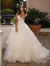 Smileven Wedding Dress Spaghetti Straps Organza Bride A Line V Neck Backless Informal Gowns For Girl Turkey
