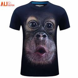6xl new fashion summer men t shirt 3d print animal orangutan lion tiger short sleeve casual.jpg 250x250