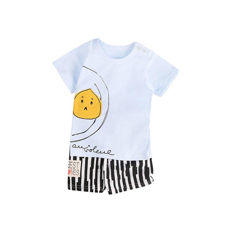 2018 Nowe letnie zestawy ubrań dla niemowląt chłopców Boys Baby - Ubrania dziecięce - Zdjęcie 3