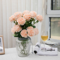 silk flowers for crafting forever rose for home decoration flores artificiales para decoracion hogar party accessories