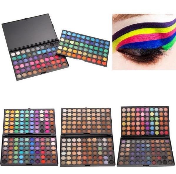 Novo 120 Completa Cores Sombra Mineral Cosmetics Make Up Maquiagem Kit Paleta Da Sombra de Olho Profissional