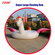 Giant swimming pool inflatable unicorn floats,inflatable rainbow party bird island float
