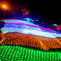 8 м x 10 м 1920 светодио дный Главная Открытый Праздник Рождества декоративные свадебные xmas Строка Фея Шторы гирлянды полосы вечерние огни