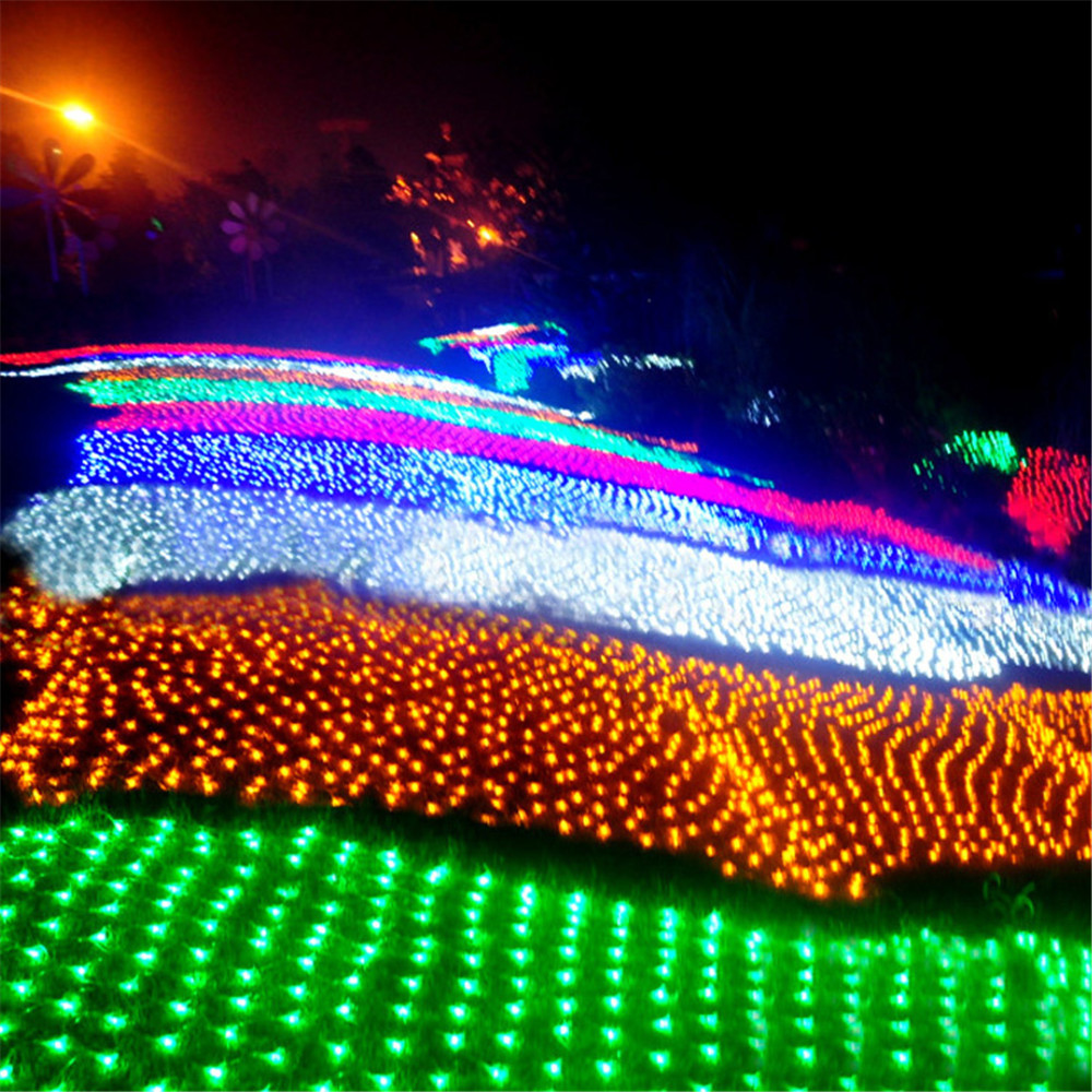 8M x 10M 1920 LED Home Outdoor Holiday Christmas Decorative Wedding xmas String Fairy Curtain Garlands Strip Party Lights недорого