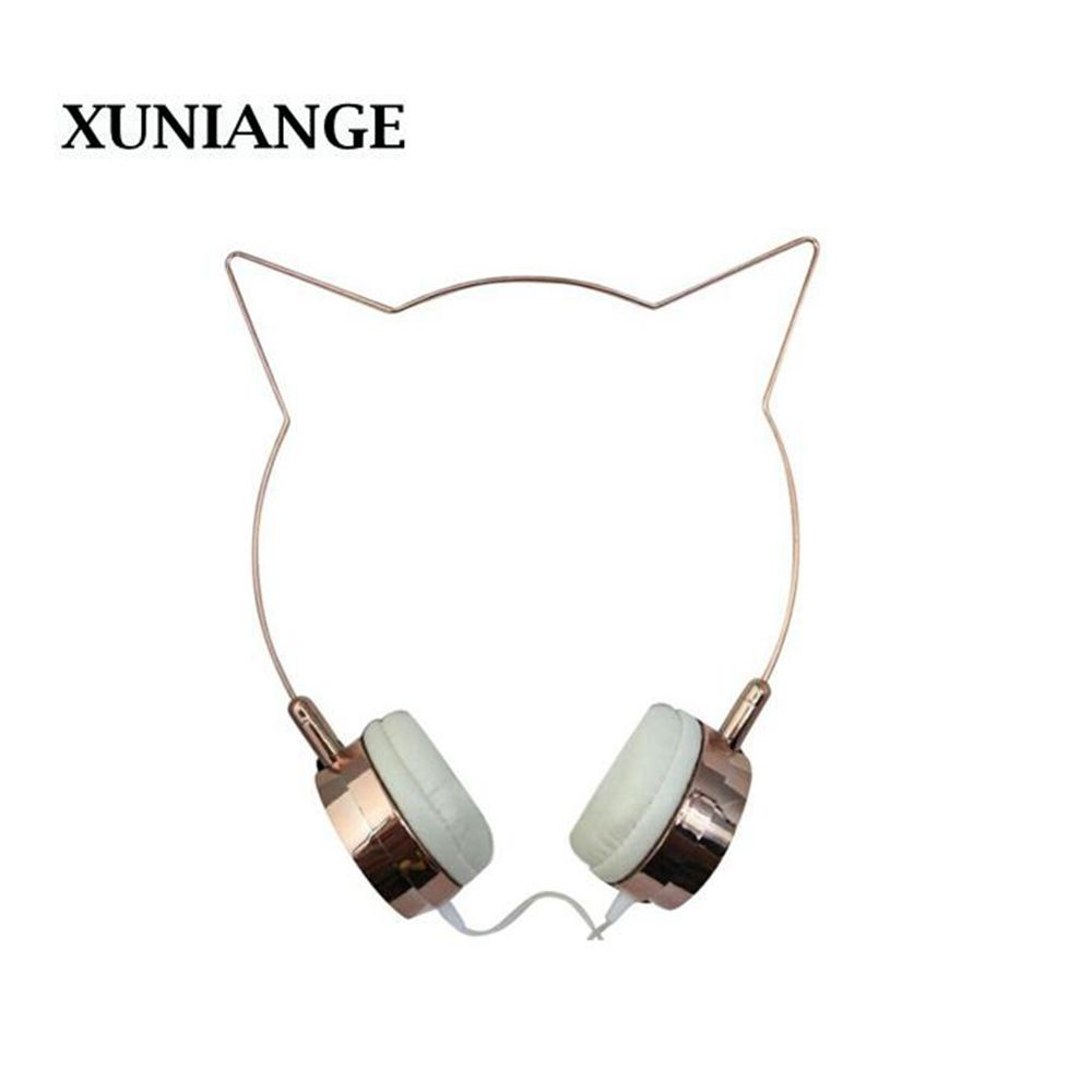 XUNIANGE original design mili Cat ears headphones with gold plated bass headset For IPhone Android Smartphone CP notebook kz headset storage box suitable for original headphones as gift to the customer