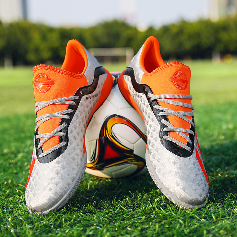 28aaa9a99 Custom Design Men's Soccer Cleats Shoes High Top TF/FG Outdoor Football  Boots Training Sports Sneakers Shoes Cleats 35-44. US $23.74