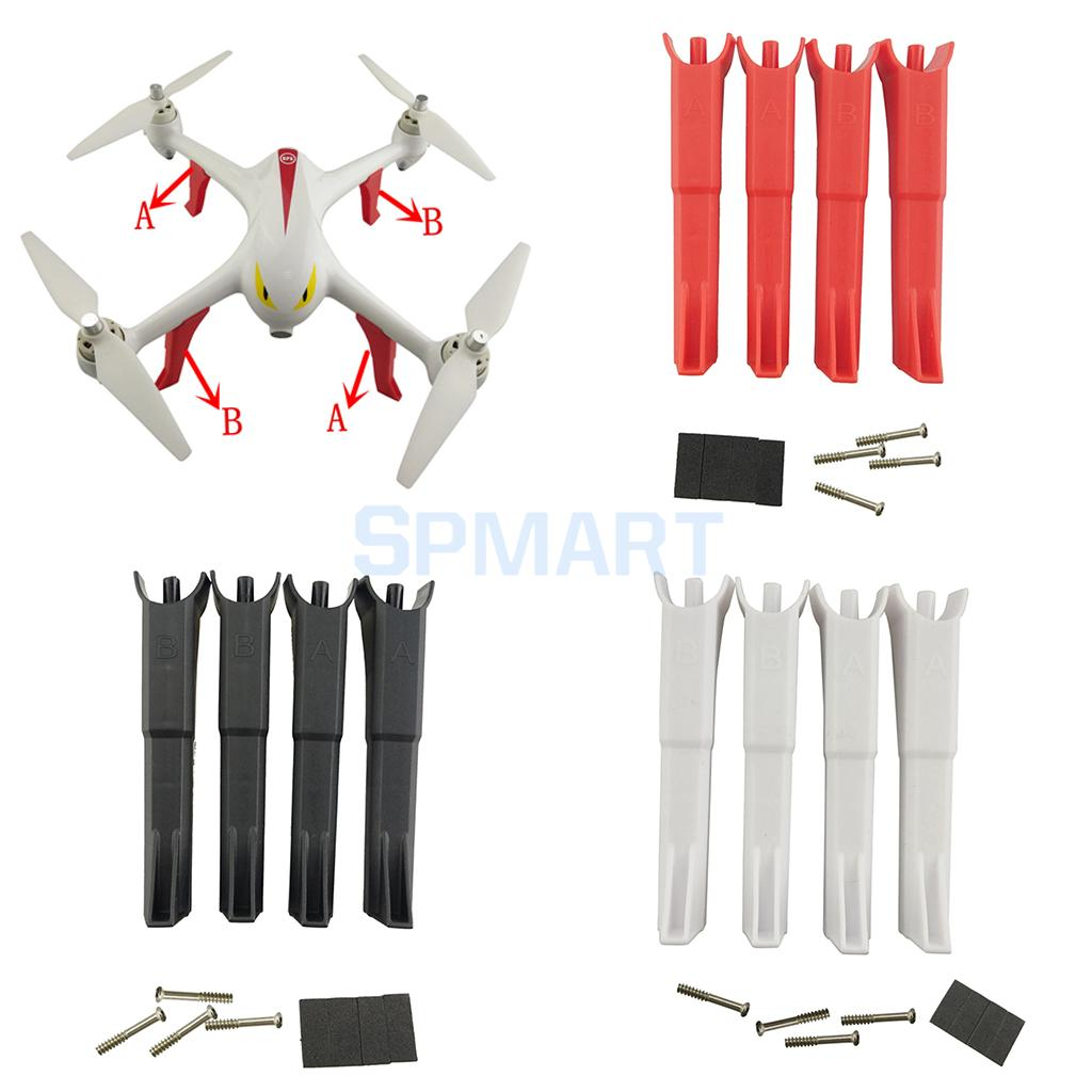 4 Pieces Plastic RC Drone Aircraft Landing Gear Undercarriage Protection Set for MJX B2C B2W Bugs 2 Spare Parts