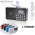 L-938b AM doble banda recargable portátil Mini bolsillo Digital AM FM Radio con USB puerto TF ranura para tarjeta micro SD de apoyo U disco
