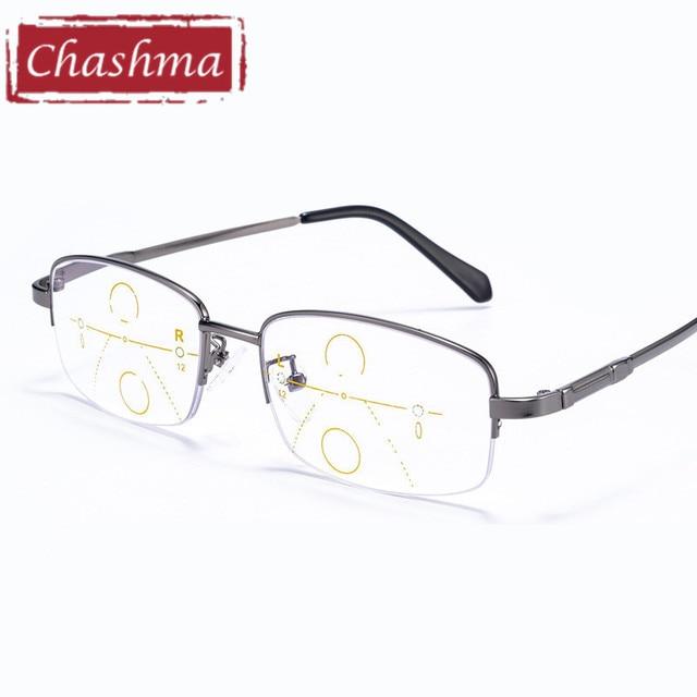 656095f3af661 Chashma marca Material Flexible de la memoria enmarcan hombres listo lentes  progresivas multifocales gafas para hombre