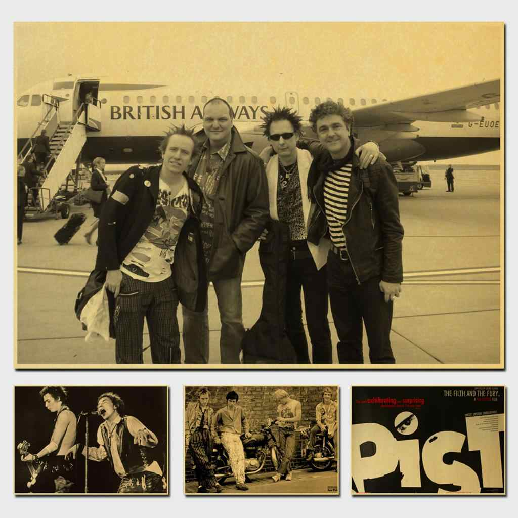 Sex Pistols British Punk Rock Band Decorative Painting/Wall Decor/Bar Poster/Kraft Paper/Retro Poster