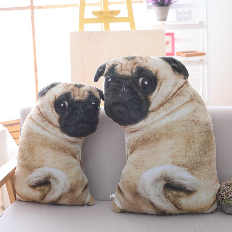 3d Simulazione Belldog Giocattolo Della Peluche Cuscino Bambola Vita Reale Divertente Pug Cane Bambola Cuscino Pisolino Sdraiato Incline Morbido Divano Cuscino