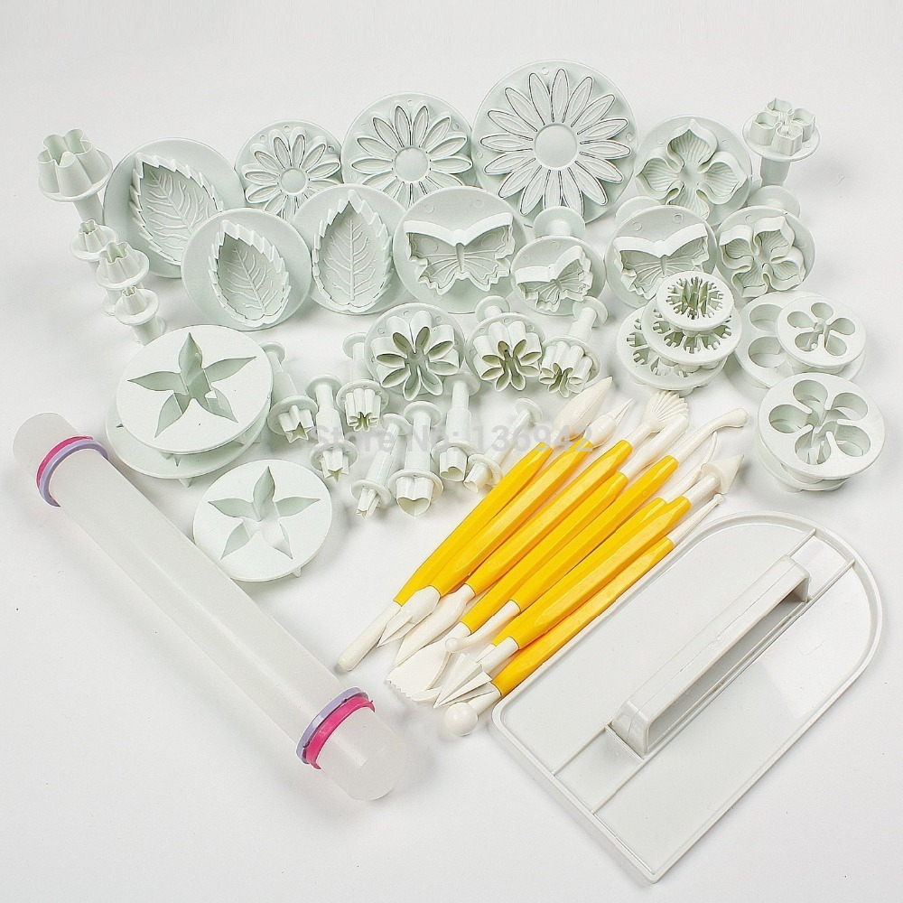 Hot Sale Cake Tools 14 sets (46pcs) Flower Fondant Cake ...