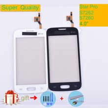 For Samsung Galaxy Star Pro S7262 GT-S7262 S7260 GT-S7260 Touch Screen Panel Sensor Digitizer Front Glass Outer Lens Touchscreen