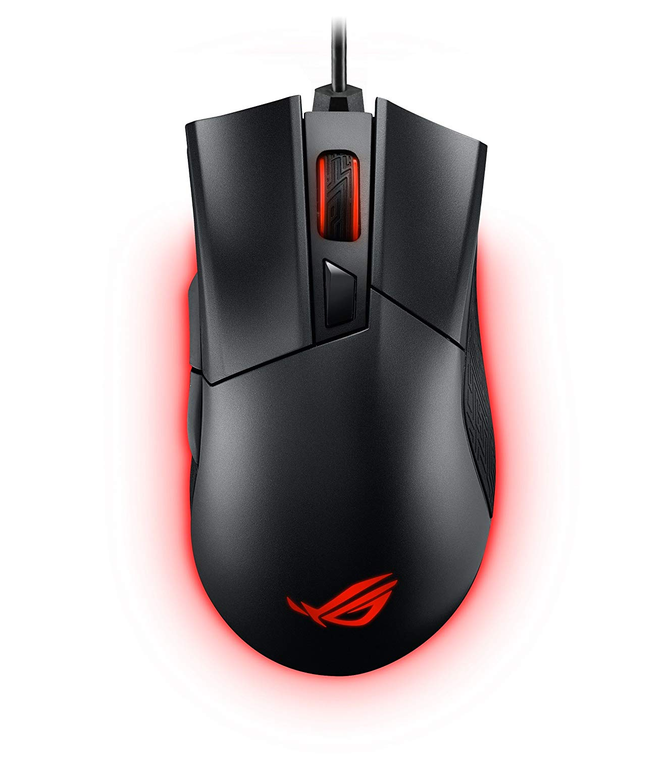 ASUS ROG Gladius II Aura Sync USB Wired Optical Ergonomic Gaming Mouse with DPI target button (12000 DPI) - ROG GLADIUS II sunsonny t m30 usb wired 6 button 600 1000 1600dpi adjustable led gaming mouse golden red