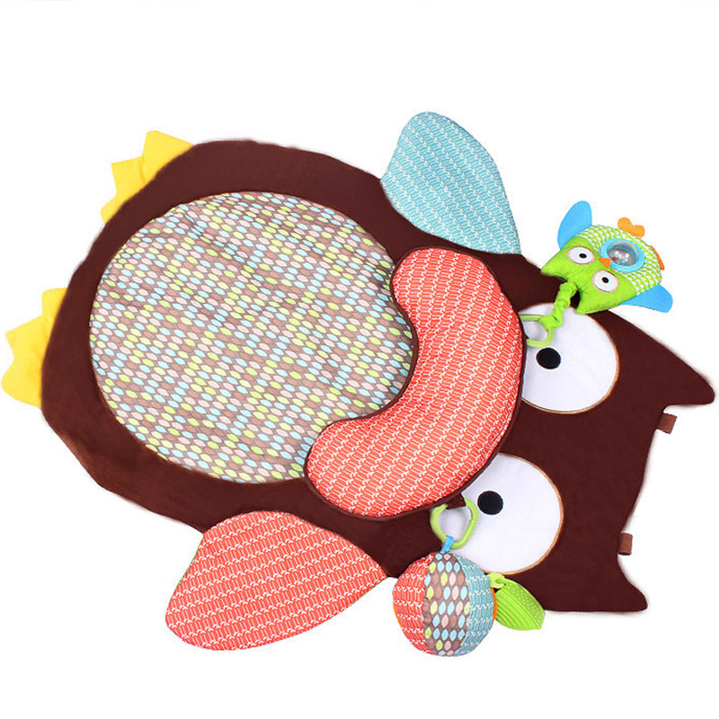 High Quality Cartoon Owl Double Thick Baby Blanket Game Blanket Baby Crawling Blanket Baby Game Pad Toy Pad Small Mat 69cmx50cm