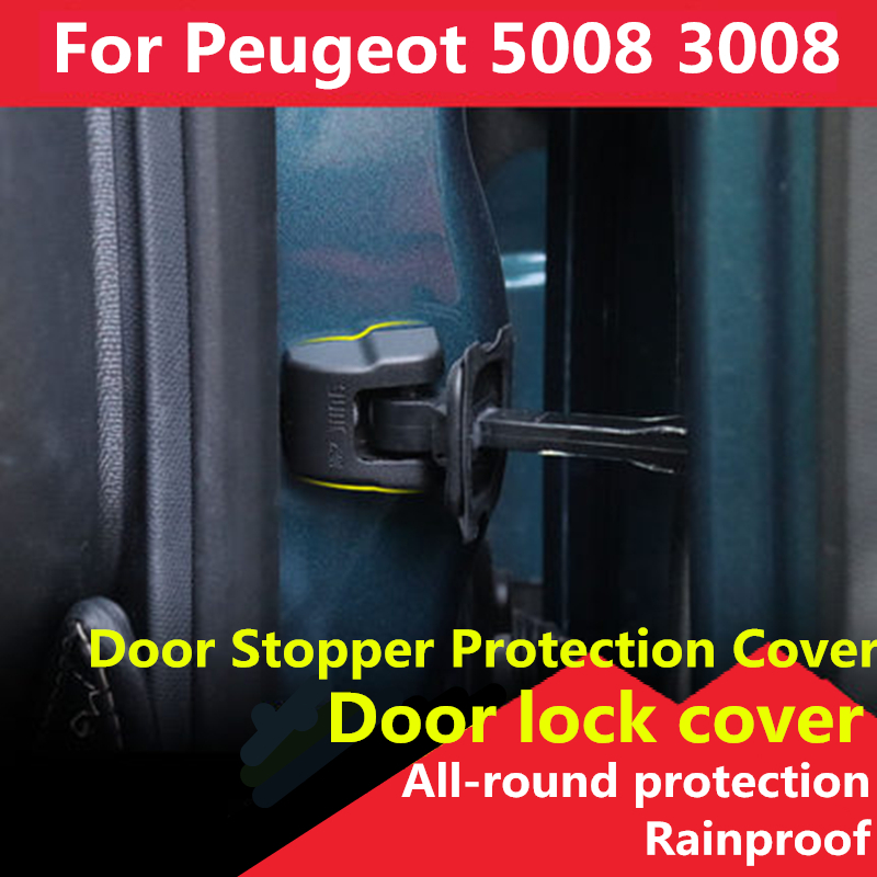 For Peugeot 5008 3008 2017 2018 2019 Car Door Stop Cover Check Arm Cover Protector Cap Styling Plastic Modification Accessories