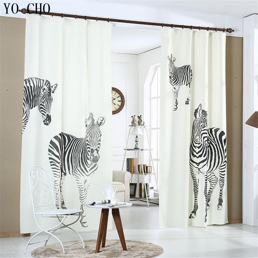High Quality zebra Digital Print velvet linen 3D stereoscopic linen curtains Modern Curtain for Living Room blackout curtains zwbra shower curtain
