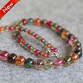 T8304 New 6-14mm Multicolor Tourmaline beads Necklace Jasper beads,Fashion charming women jewelry wholesale FREE SHIPPING
