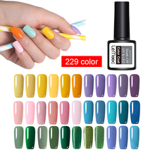 Summer Hot Sale 8ML Light Pure Color UV Nail Gel Polish Varnishes Manicure Need Lamp For Art Glitter Lacquer