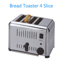 Бытовой автоматический прибор для хлеба тостер 4 ломтика из нержавеющей стали тостер для завтрака EST-4